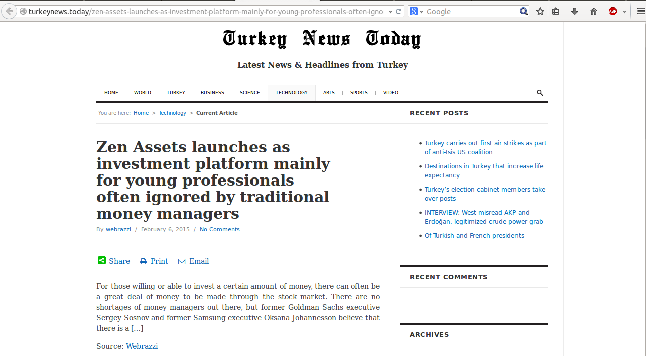 Turkey News Today launch release