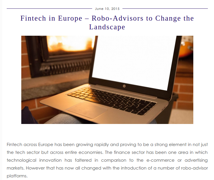 british blog fintech in europe
